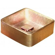 Thomspson Traders Chelsea 12x12 satin Gold square Vessel Sink