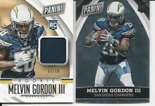 Melvin Gordon III 2015 The National VIP Jersey Rookie 2 Card Lot RC Panini /99