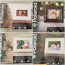 """NEW Polaroid Digital Picture Frames 7"""" White or Silver or 8"""" Espresso or Ivory"""