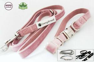EveryBreed Luxury Velvet Hemp Dog Collar and Lead Set