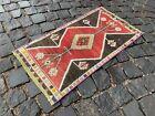 Bohemian rug, Vintage rug, Small, Handmade, Decor rug, Bedroom   1,4 x 2,8 ft