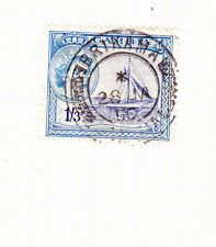 GAMBIA  1960 BRIKAMA POSTMARK ON STAMP