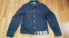 TRUE RELIGION *NEW* Denim DEZ Jacket MEDIUM Mens NOMADS DARK Jean -1 OF A KIND!