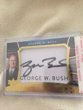 "2016-17 Decision Update Gold Foil George "" W."" Bush Cut Signature AUTO"