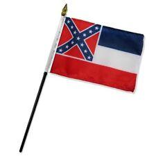 "Mississippi State Flag 4""x6"" Desk Table Stick"