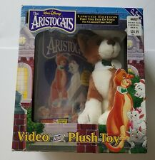 The Aristocats Video and Plush Toy - VHS Disney Masterpiece New In Box