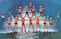 Cypress Gardens Florida~Patriotic Ski Show~11 Man Pyramid~Bathing Beauties~1968
