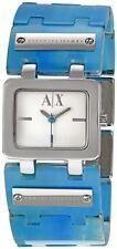 Armani Exchange Blue Plastic Strap Ladies Watch AX3110