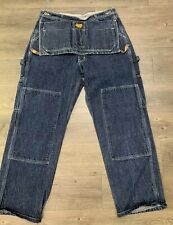 VTG Ralph Lauren Workwear Polo Jeans Tool Bag Double Front Jeans Size 32 X 32