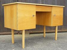 60er Schreibtisch Retro Danish Modern Tisch Büro Esche Mid-Century Vintage