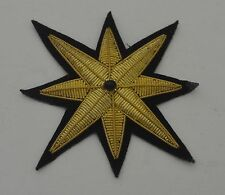 Reduced!  PAIR OF STRIKING VINTAGE STAR APPLIQUES WITH BEAD RR971
