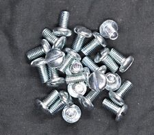 10-32 x 3/8 Slotted Pan Head Machine Screws - Bright Zinc Plated - Steel