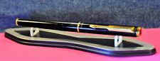 """Parker""  95 Matte black/GT Gold plated ""M"" nib  Fountain Pen  w/box 1991's"