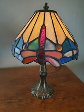 Beautiful Small Dragonfly Stained Glass Accent Lamp