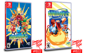 Windjammers + Gold Card Nintendo Switch Limited Run Games #22 LRG Unsealed