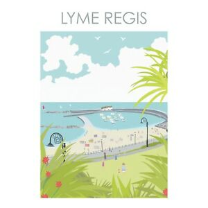 LYME REGIS DORSET ART PRINT BY BETTY BOYNS