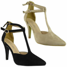Faux Suede Court High (3 to 4 1/4) Heel Height Heels for Women