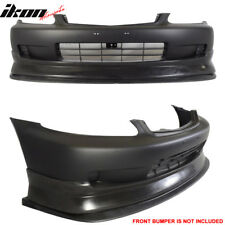 99-00 Honda Civic CS Style Front Bumper Lip + Chin Splitter PP