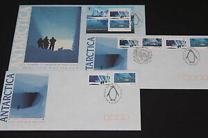 AUST 1990  AAT SCIENTIFIC CO-OPERATION SET OF 3 KINGSTON FIRST DAY COVERS