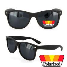 Polarized MATTE RUBBER FINISH Men Women Classic Sunglasses Spring Temple Black