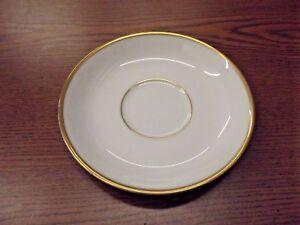 SET OF 8 Princess House Heritage China Saucer Gold Trim**SHIPS FREE!!