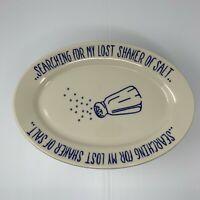 Homer Laughlin Platter Shaker of Salt Platter Jimmy Buffet Restaurantware