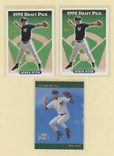 DEREK JETER - 1993 Topps Rookie #98 (2), 1992 Score Draft #360 NY Yankees Lot(3)