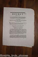 ✒ Révolution CONVENTION NATIONALE Décret consolidation de la DETTE publique 1793