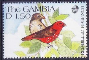 Gambia 1991 MNH, Birds, Red-billed Firefinch