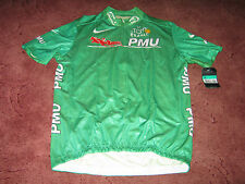 TOUR DE FRANCE 2003 NIKE GREEN POINTS ITALIAN CYCLING JERSEY [X/LARGE] BNWT