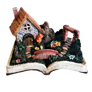 Fairy Garden Polystone Book House Solar Powered