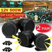 4pcs 12V 500W Car Audio Music Stereo Super Sound High Tweeter Speaker  W