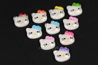 10pcs Hello Kitty Figurine For Cake Decoration Topper Figure Toy Decorate PVC