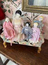 Lot Of 5 Vintage And Reproduction China Head Dolls From Doll Shop
