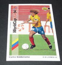 VALDERRAMA MEDELLIN COLOMBIA FOOTBALL CARD UPPER DECK USA 94 PANINI 1994 WM94