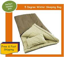 Winter Sleeping Bag with Pillow - Coleman Big and Tall, Zip 2 for double room
