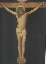 Holy card lamina antique del Cristo de Velasquez santino image pieuse