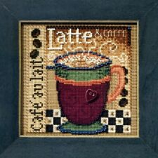 Latte Beaded Cross Stitch Kit Mill Hill 2008 Buttons & Beads Autumn