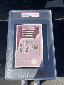 Autographed Jerry West Signed 1960 Olympic Ticket Gem Mint 10 PSA Inscription #2