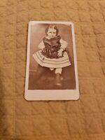 Beautiful Vintage CDVs of Sibling #2! Id'd. *Hattie Axtell* Wisconsin.
