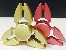 2 Pcs(GOLD & ROSE GOLD)Fidget Spinner Metallic Brass ,Retail Package.USA Seller