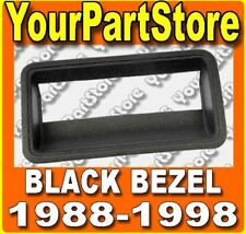88-98 CHEVY GMC PU PICKUP TRUCK REAR TAILGATE HANDLE BEZEL PLASTIC TRIM Black