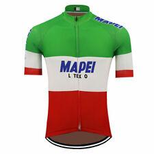 Cycling Short Sleeve Jersey Retro  Italy Team Mapei Cycling Jersey