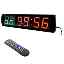"4"" Jumbo LED Wall Clock Crossfit Timer Gym MMA Boxing EMOM Tabata Training"