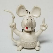 Vintage 1980's Original Frico White Mouse Shape Dutch Cheese Advertising Keyring