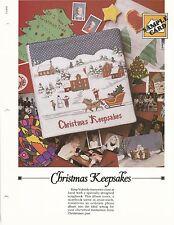 CHRISTMAS KEEPSAKES NEEDLEPOINT CROSS STITCH ALBUM COVER OXMOOR HOUSE DESIGN