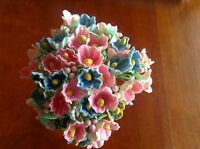Vintage Millinery Flower Forget Me Not Pink Blue Mix for Hat + Hair Crown PB2