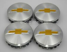 (4) Tahoe Suburban Silverado Chevrolet Chevy CENTER HUB CAPS POLISHED 2014-2017