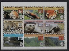 U20) x9 TIMBRES-stamps Neuf**MNH SAINT-VINCENT/Grenadines (CELEBRATE THE WILD)