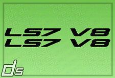2x LS7 V8 Liter Engine Badge Decals for Cowl Hood Letters Fender Door Sticker